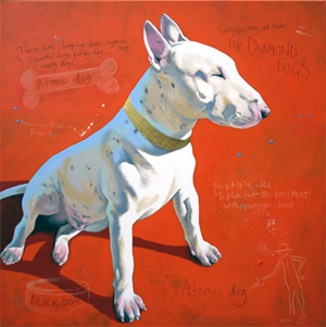 Atomic Dog - English Bull Terrier painting by Orlando Lund