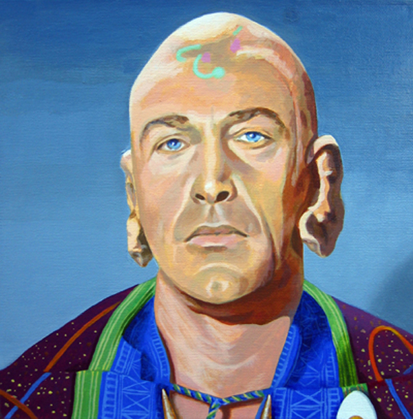 Painting of Dr. Sevrin (from Star Trek - Way to Eden) by Orlando Lund