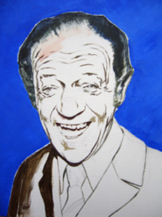 Sid James - preparatory painting by Orlando Lund
