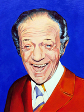 Sid James - painting by Orlando Lund