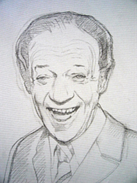 Sid James - drawing by Orlando Lund